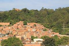Панорамный востока города Medellin, Колумбия Стоковое Изображение RF