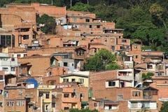 Панорамный востока города Medellin, Колумбия Стоковое фото RF