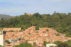 Панорамный востока города Medellin, Колумбия Стоковое Изображение