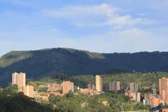 Панорамный востока города Medellin, Колумбия Стоковые Изображения