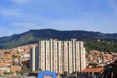 Панорамный востока города Medellin, Колумбия, Стоковые Изображения