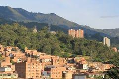 Панорамный востока города Medellin Колумбия, Стоковая Фотография RF