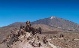 панорамный вулкан взгляда teide Стоковое фото RF