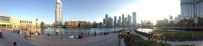Панорамный городской пейзаж Дубай городской Стоковое фото RF