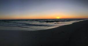 панорамный заход солнца Стоковое Изображение RF