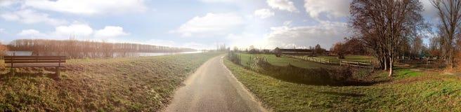 Панорамный ландшафт Frankenthal - Petersau на солнечный пасмурный день, Германия стоковое фото