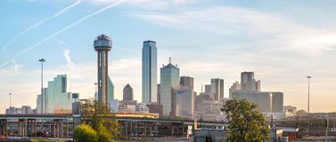 Панорамный обзор городского Далласа стоковая фотография