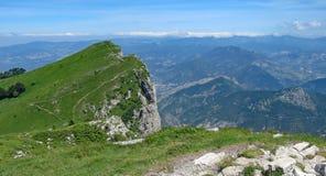 Панорамный от от Becs Les Trois, Франции стоковая фотография rf