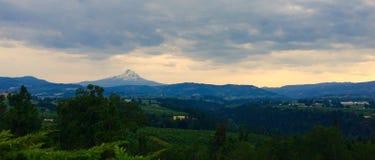Панорамный долины Рекы Hood стоковое изображение