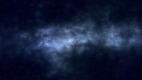 Панорамный полет в космос иллюстрация вектора