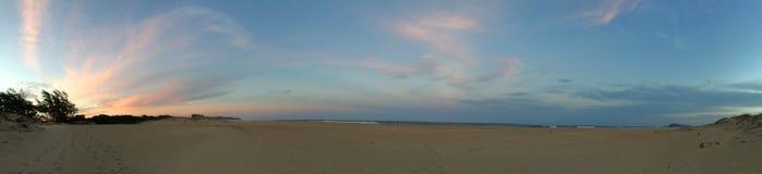 Панорамный пляж Сент-Люсия Южная Африка Стоковое Изображение