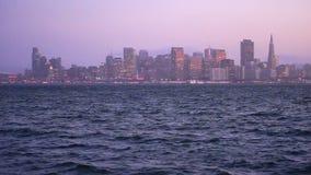 Панорамный Тихий океан горизонта города Сан-Франциско Калифорнии городской сток-видео