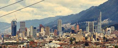Панорамный центра города bogota стоковое фото rf