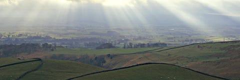 панорамный yorkshire стоковое фото rf