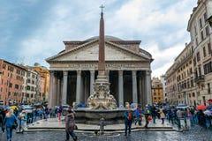 Пантеон, бывший римский висок в Риме, Италии стоковое изображение rf