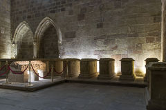Пантеон инфантов Монастырь Ла Реальн de Najera Santa Maria Стоковые Изображения