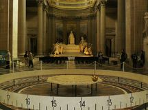 Пантеон Париж маятника Леона Foucault Стоковое Изображение RF