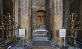 пантеон rome Италии Пантеон был построен как висок к всему t стоковое изображение