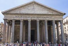 пантеон rome Италия Июнь 2017 стоковые изображения