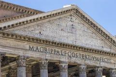пантеон rome Старый римский пантеон Близкий взгляд Рим, Ital Стоковое фото RF