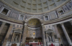пантеон rome Старый римский пантеон Внутренний взгляд Рим, I стоковая фотография
