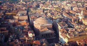 пантеон rome сток-видео