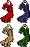 пантера талисмана логоса кугуара Стоковое Изображение RF