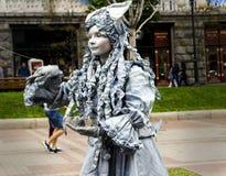 Пантомима девушки стоковые фотографии rf