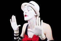 пантомимы глаз актера закрытые Стоковое Фото