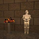 Панцырь стоя около медника Стоковое Фото