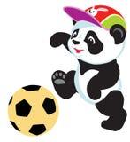 Панда играя с шариком иллюстрация вектора