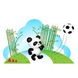 Панда играя футбол бесплатная иллюстрация