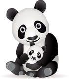 панда семьи Стоковое Изображение RF