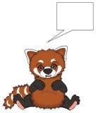 Панда сюрприза красная с чистым символом иллюстрация штока