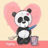 Панда художника иллюстрация вектора