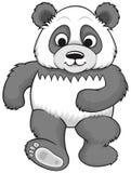 Панда шаржа идя Стоковое фото RF
