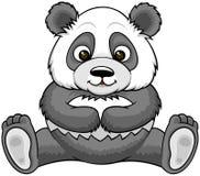 Панда шаржа сидя Стоковое Изображение
