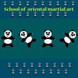 Панда fu Kung Стоковые Изображения RF