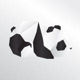 Панда Origami Стоковое Изображение