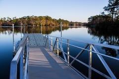 Пандус старта на озере для гребли Стоковые Фото
