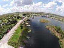 Пандус шлюпки в Florid болотистых низменностях Стоковое Изображение RF