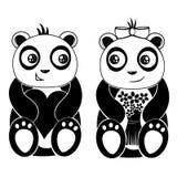 панды Бесплатная Иллюстрация