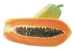 папапайя еды очень стоковое изображение