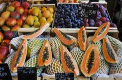 Папапайя, манго, слива Стоковые Изображения RF
