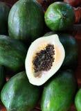 папапайя плодоовощ зеленая Стоковые Фотографии RF