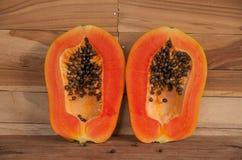 папапайя свежих фруктов Стоковое Изображение
