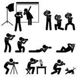 Папарацци оператора фотографа иллюстрация вектора