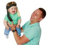 Папа держит младенца стоковые фото