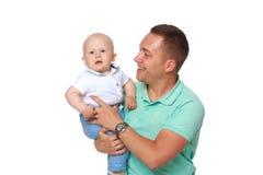 Папа держит младенца стоковые фотографии rf