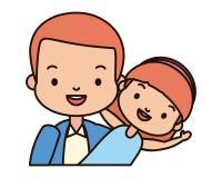 Папа и дочь иллюстрация штока